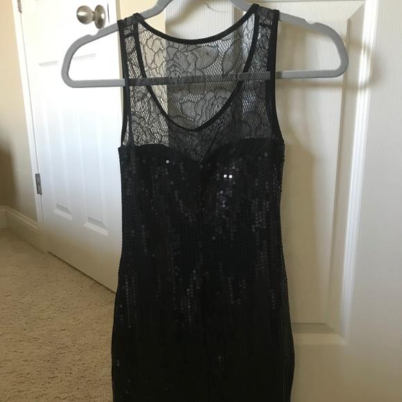 As U Wish Dresses & Skirts - Black Sequin Mini Dress